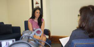 Natalie Fousekis interviewing Nury Martinez